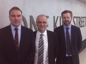 L-R Martin March, Phil Farrelly and James Whittaker